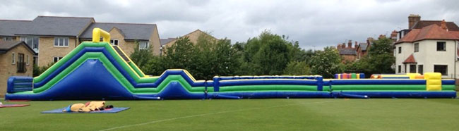 Hire one of the largest inflatable assault courses in England
