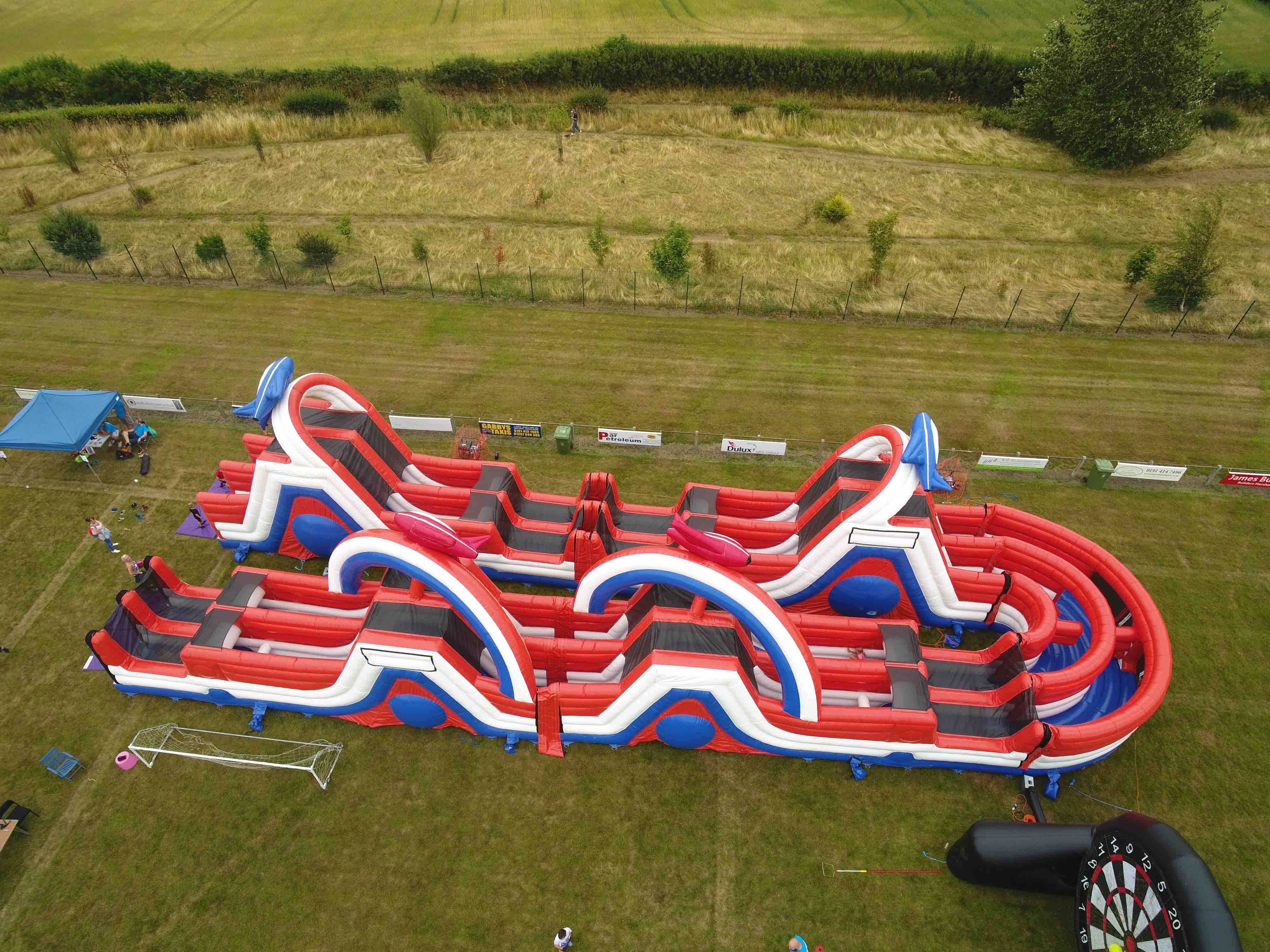 Giant 220ft inflatable assault / obstacle course