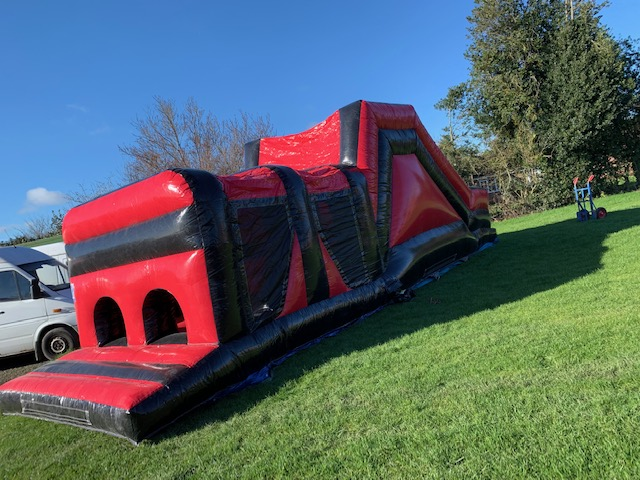35ft Red & Black Inflatable Obstacle Course