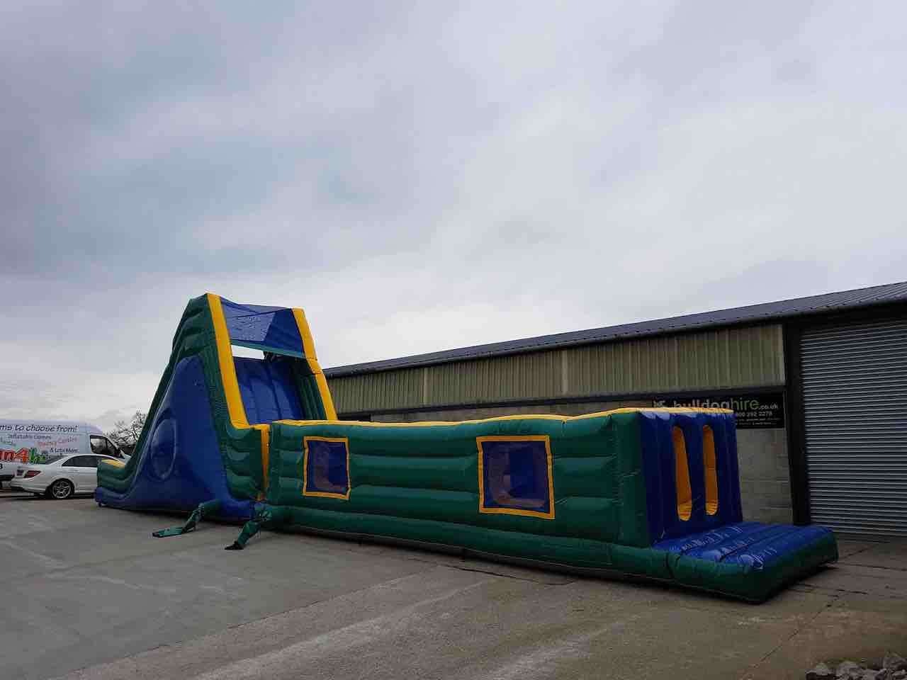 60 foot B inflatable obstacle assault course