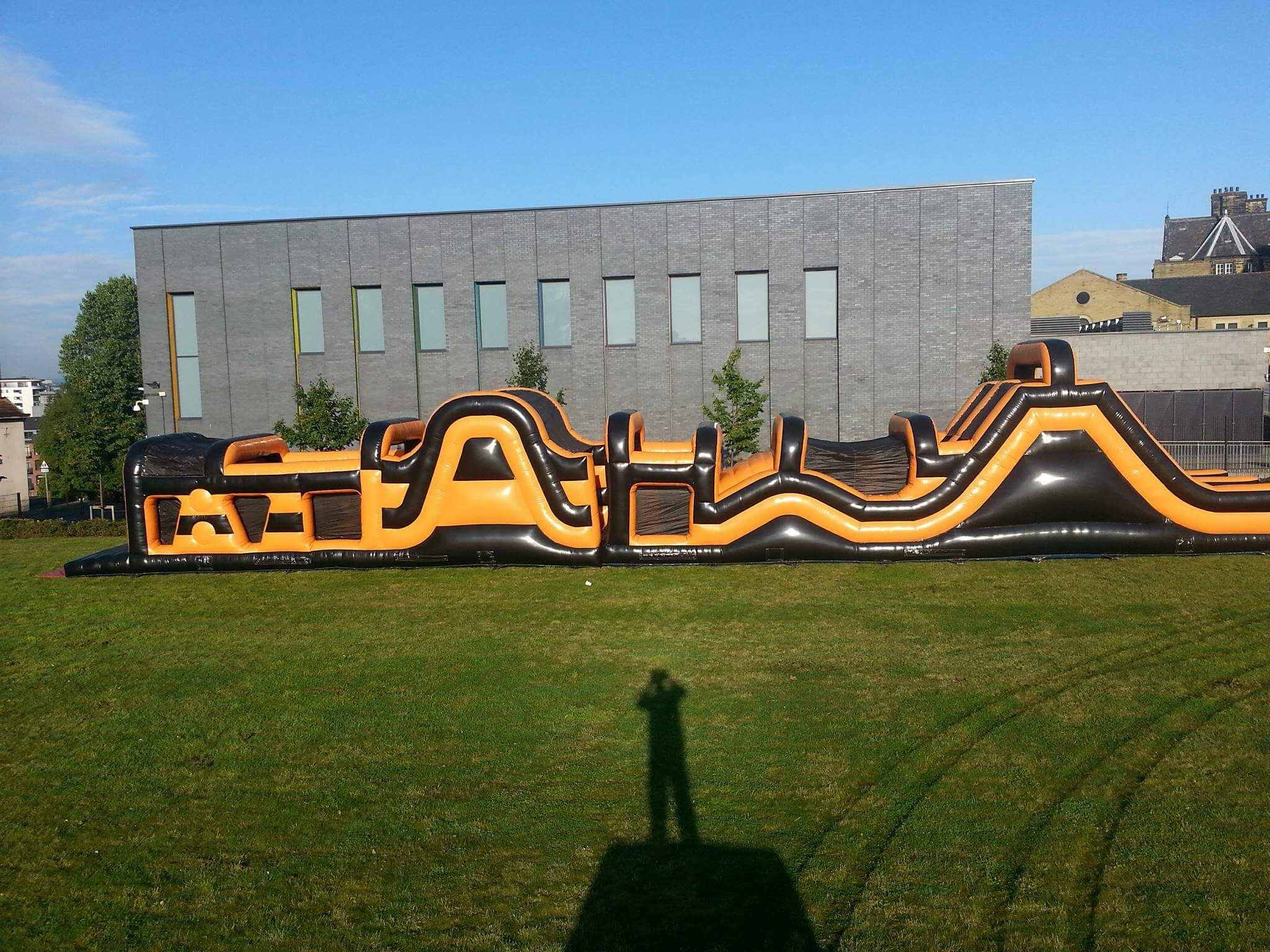 90foot inflatable boot camp assault course giant bouncy slide