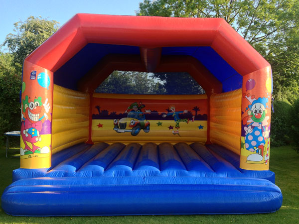 Clown Themed Castle Children & Adults (C)  20ft x 20ft x 15ft£95 Please quote castle number : 4