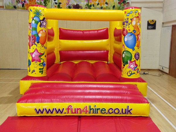 4 Poster Party Time Bouncy Castle. 16ft x 11ft x 8ft£65. please quote number: 56