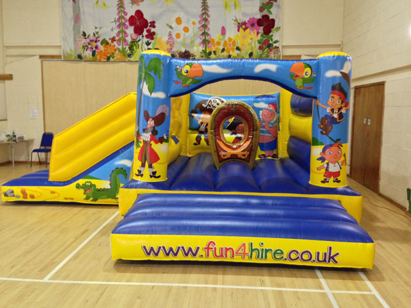 pirates themed bouncy castle and slide combo. 16ft x 19ft x 8ft£75. Please quote number: 72
