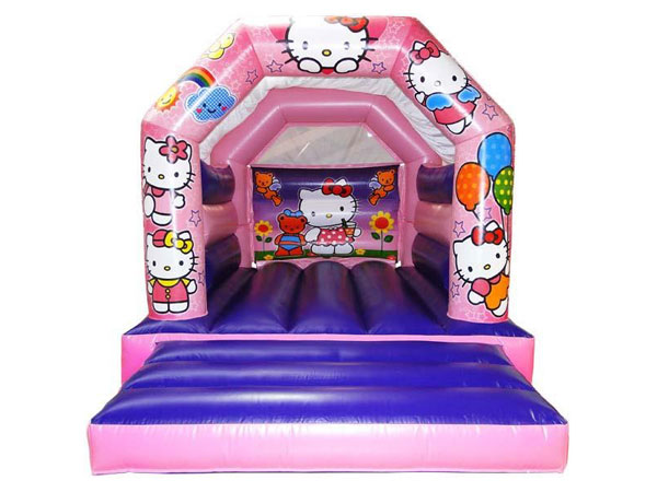 Kitty themed bouncy castle. 16ft x 11ft x 11ft£65. Please quote number: 71