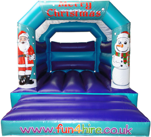 Merry Christmas bouncy castle for hire