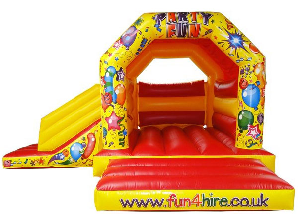 Red and Yellow party fun combo castle and slide. 16ft x 19ft x 11ft£75. Please quote number: 65