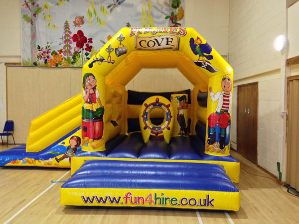 Pirate Cove combo bouncy castle with inflatable slide. 16ft x 19ft x 11ft£75. Please quote number: 69