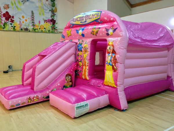 Princess Palace Bounce & Slide (C) 20ft x 13ft x 10ft£75 Please quote castle number: 47