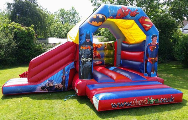 Super hero theme combo castle and slide. (C)16x19x11£75. Please quote number: 19