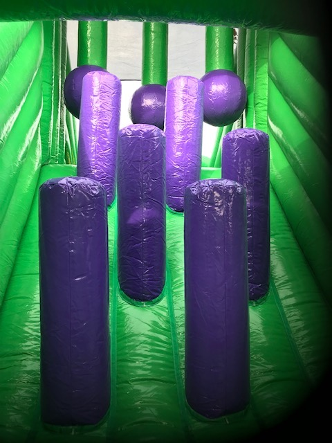 photo of 65ft inflatable obstacle assault course