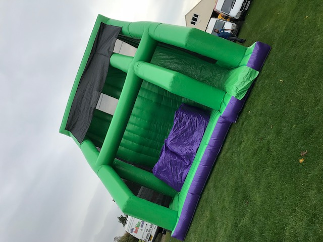 this is an image of a 5m base jump leap of faith inflatable slide jump freefall