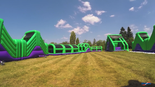 conquest inflatable obstacle event