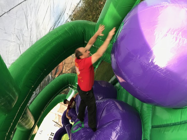 conquest inflatable purple ball challenge