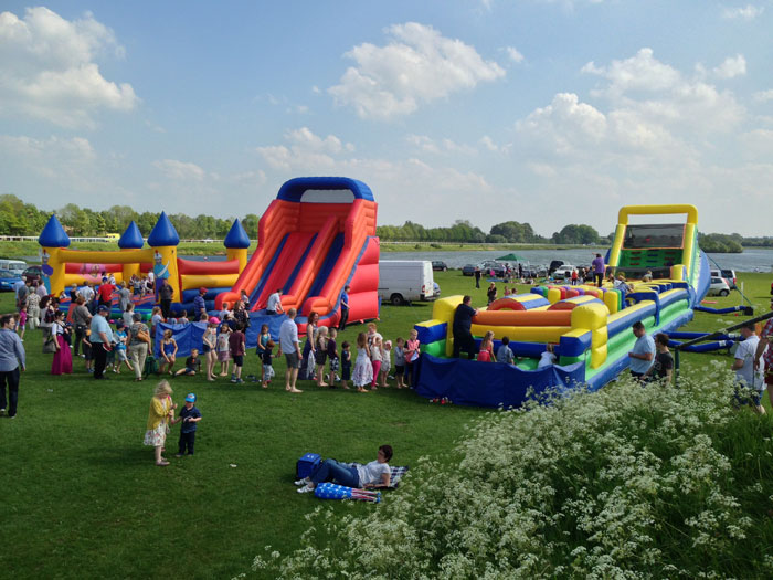 inflatable games, slides, etc