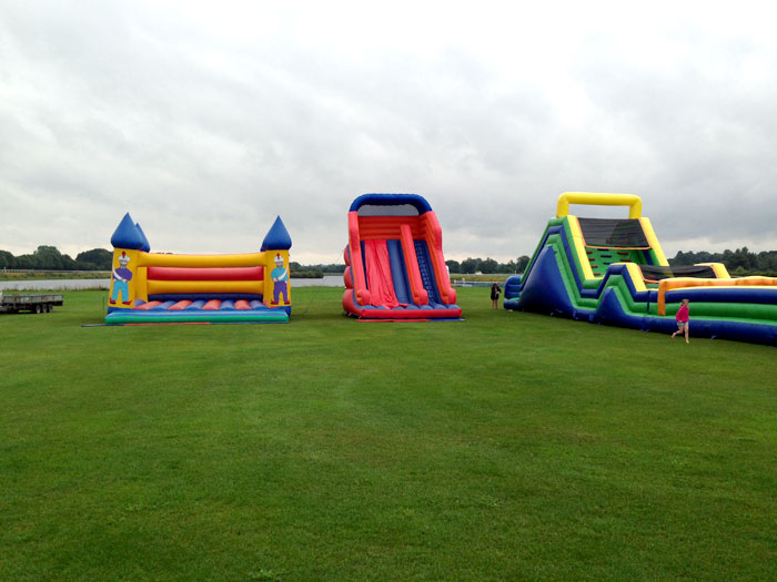 Inflatable slide, castle and assault course