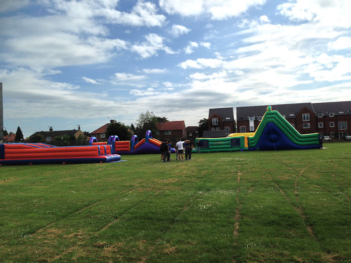 Inflatable games and assault courses