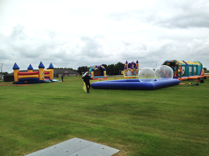 Bouncy castles, water walkers and inflatable games