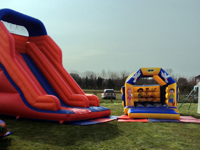 Giant inflatable slide and castle
