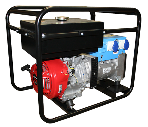 Generator�6.5KVA run time; approx 6 hours. £70 per day including 1 x full tank of fuel. will power 3x electric blowers. contact us for more specifics.