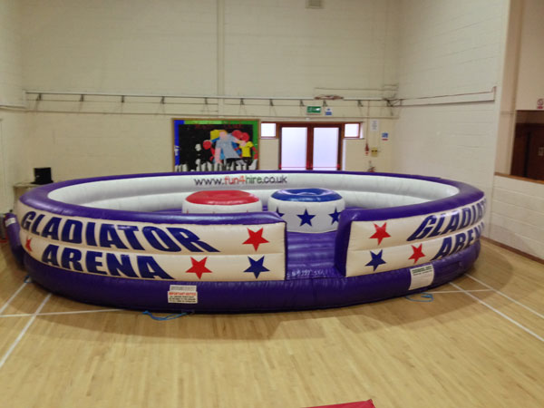 Deluxe gladiator arena inflatable game