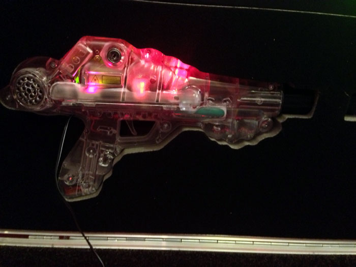 Guns for inflatable laser quest maze game
