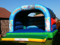 20ft x 20ft x 14ft Under the Sea themed bouncy castle - our largest adult/childrens bouncy castle �85
