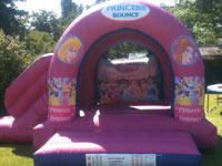 19ft x 15ft x 13ft  Princess Combi bouncy castle and slide �70