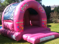 13ft x 16ft x 11ft pink Party Time bouncy castle �60