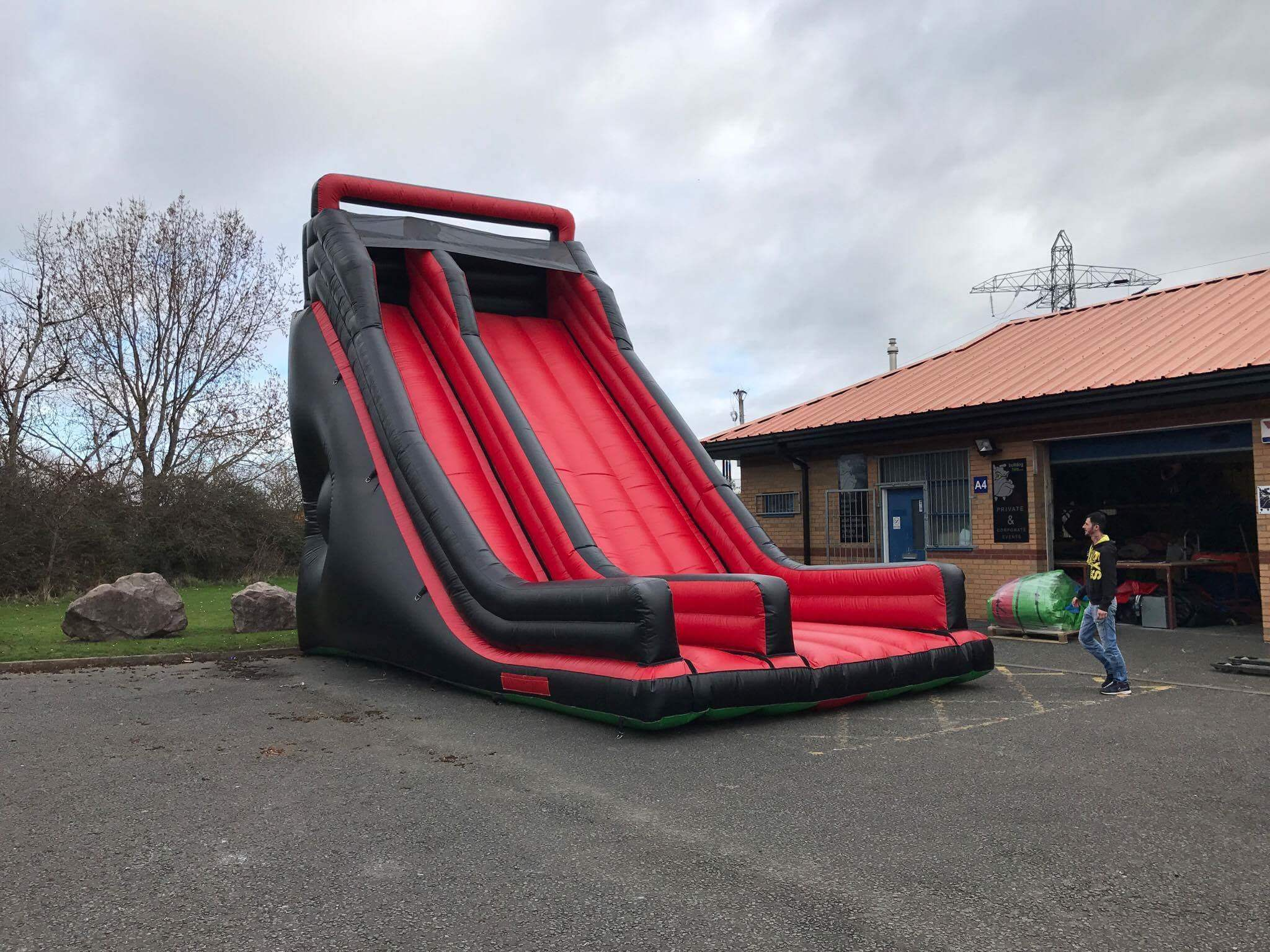 Black Mega Inflatable Slide