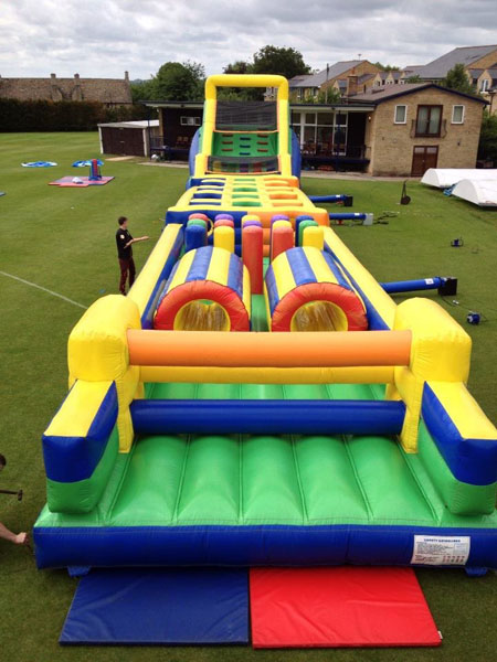 135ft inflatable assault course