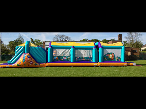 55ft inflatable assault/obstacle course