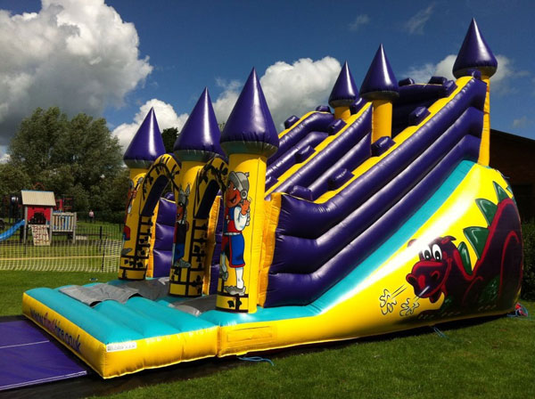 Dragons Lair Inflatable Slide
