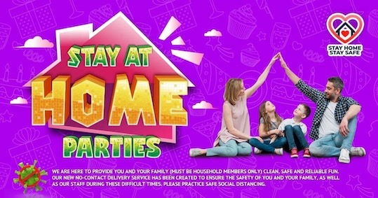 photo of stay home parties inflatable hire