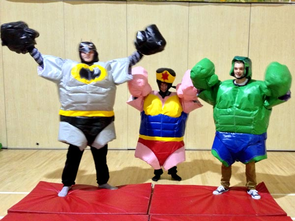 Super hero sumo suits ADULTS - 3 available �70 per day (for 3)